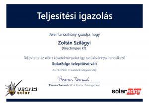 Directimpex Kft. Solaredge hivatalos naele redszer szerelő és telepítő