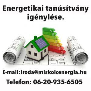 Energetikai Tanúsítvány igénylése